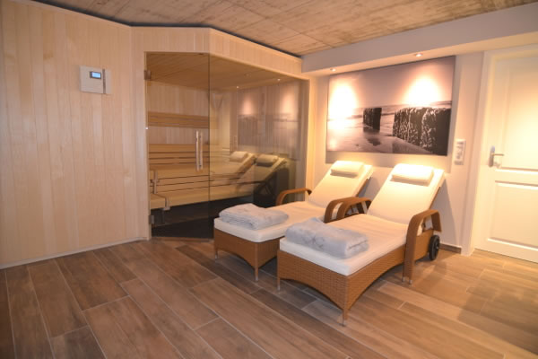 Sauna im Fastenhaus auf Sylt